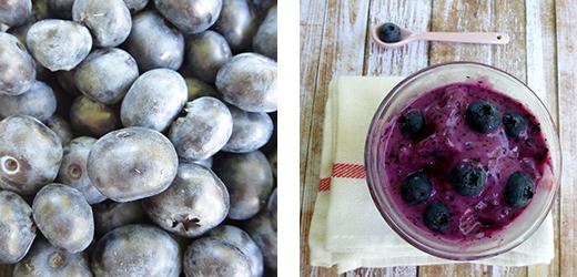 Rezept für Frozen Joghurt mit Heidelbeeren, vegan. Eis ohne Eismaschine schnell und einfach. Holunderweg18 Foodblog.