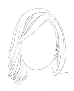 Come disegnare il volto di una ragazza con una matita disegni - Colorazione immagine di una ragazza ...
