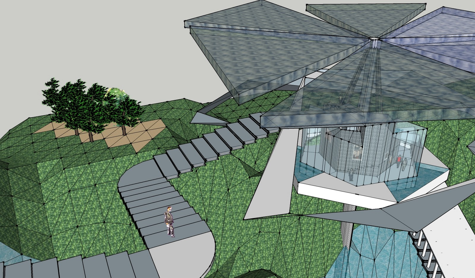 Ding developed sketchup model final for Garden design sketchup 8