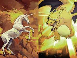 Charizard and Rapidash