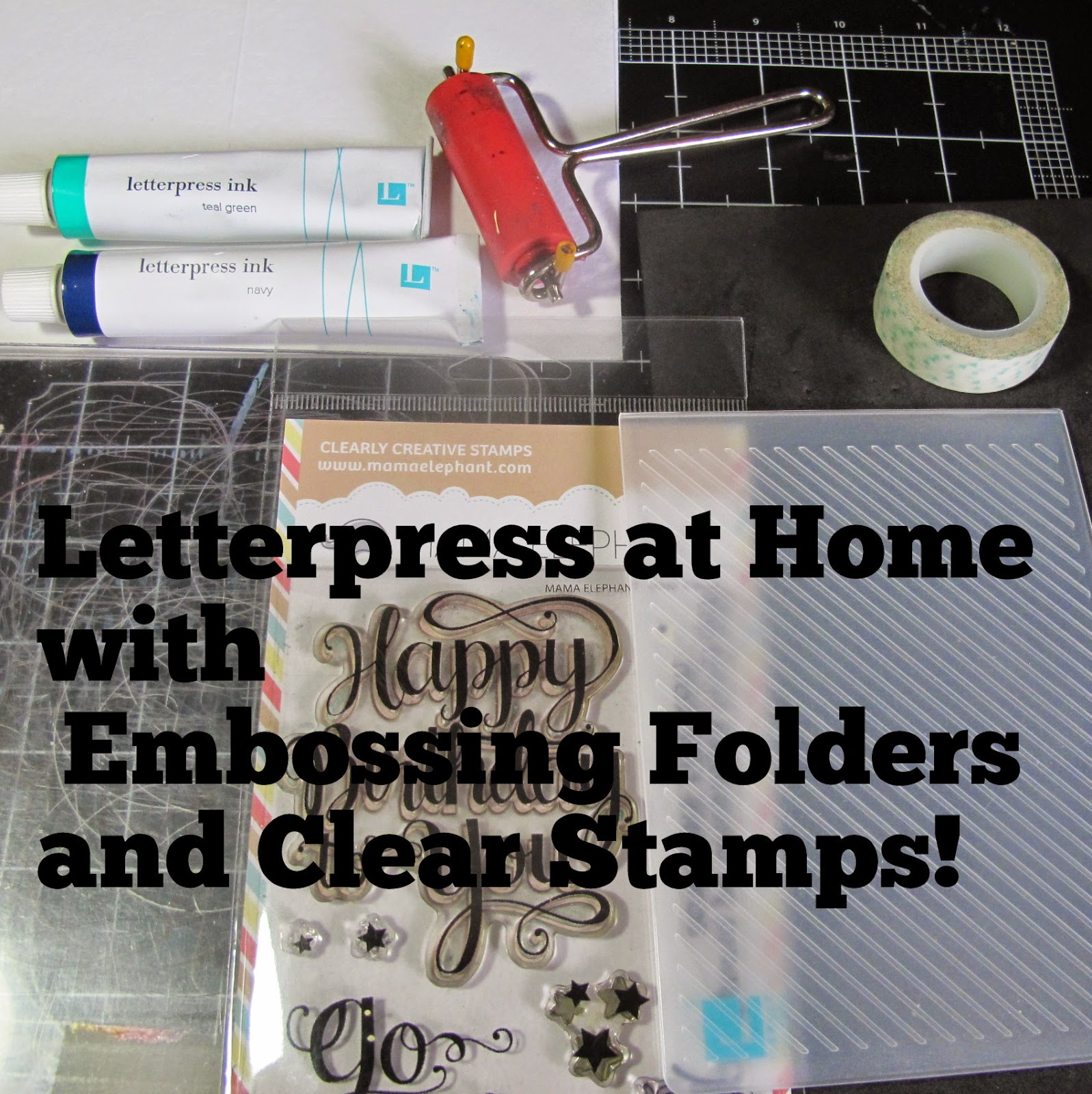 DIY Letterpress with Card Making Supplies