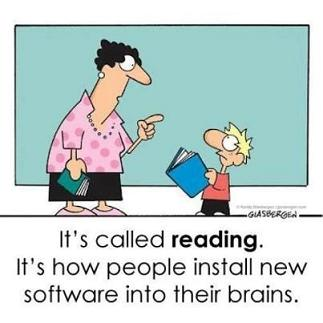 Funny book joke about reading