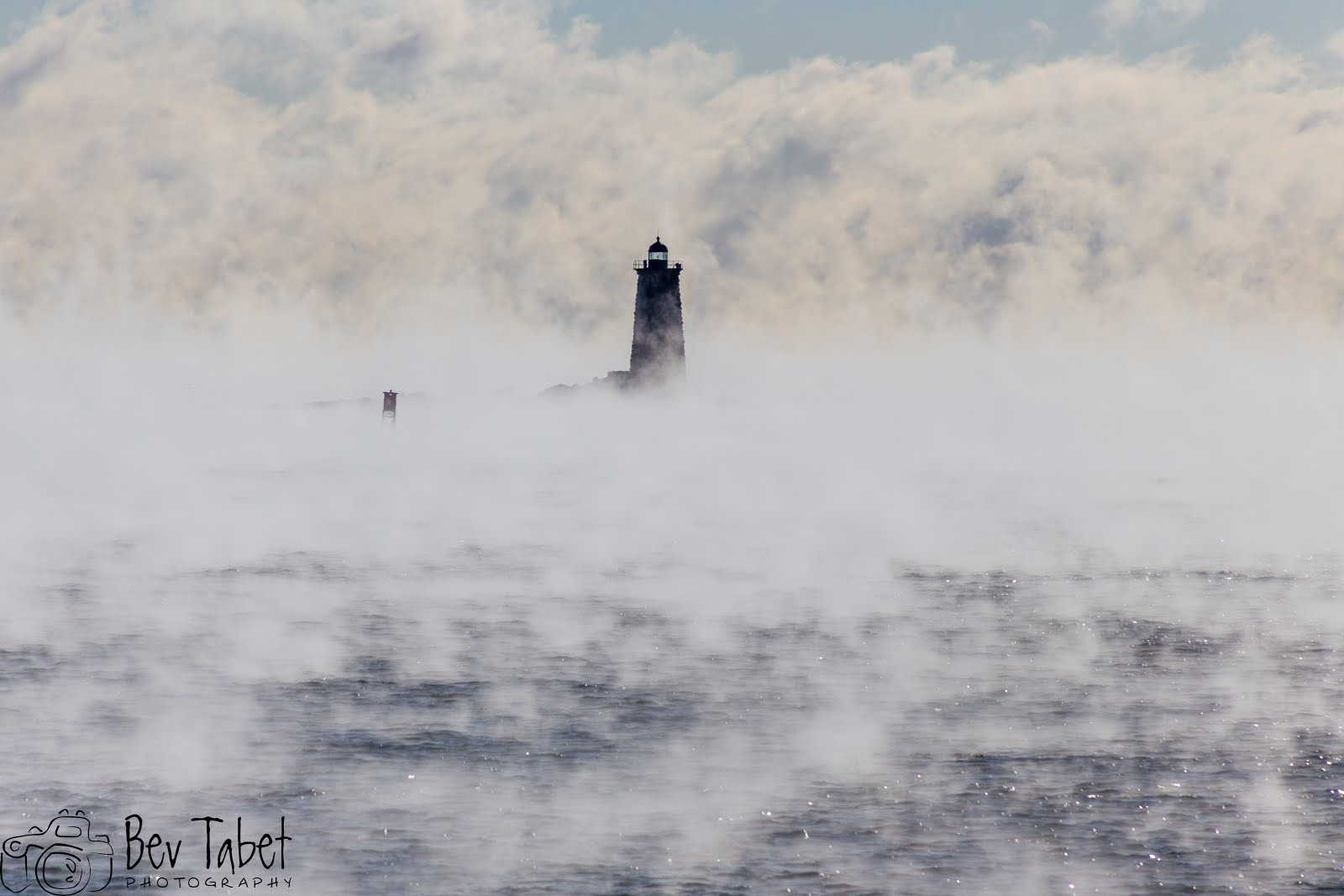 Whaleback Lighthouse in Sea Smoke