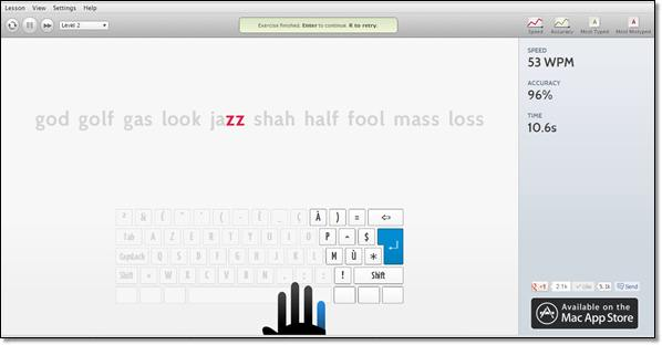 apprentissage clavier mac