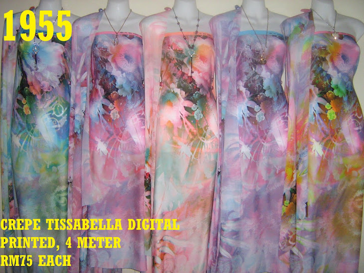 CTD 1955: CREPE TISSABELLA DIGITAL PRINTED, EXCLUSIVE DESIGN, 4 METER