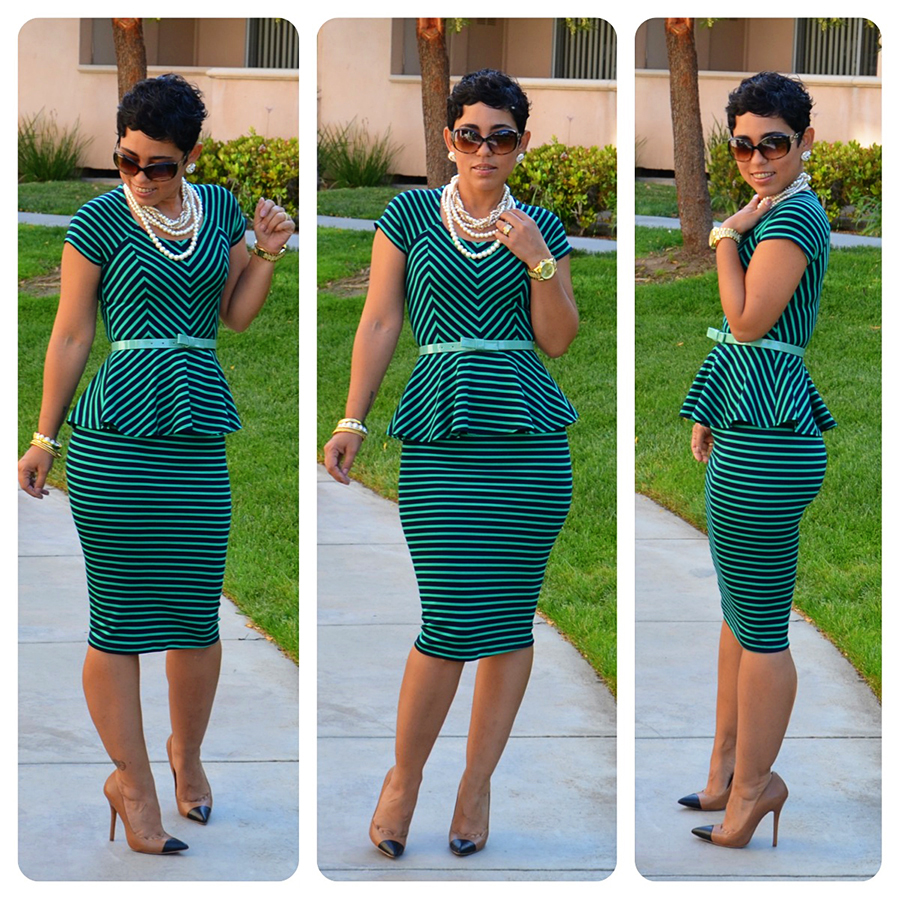 Diy Striped Peplum Top Skirt Pattern Review M6754 View C Fashion Lifestyle And Diy