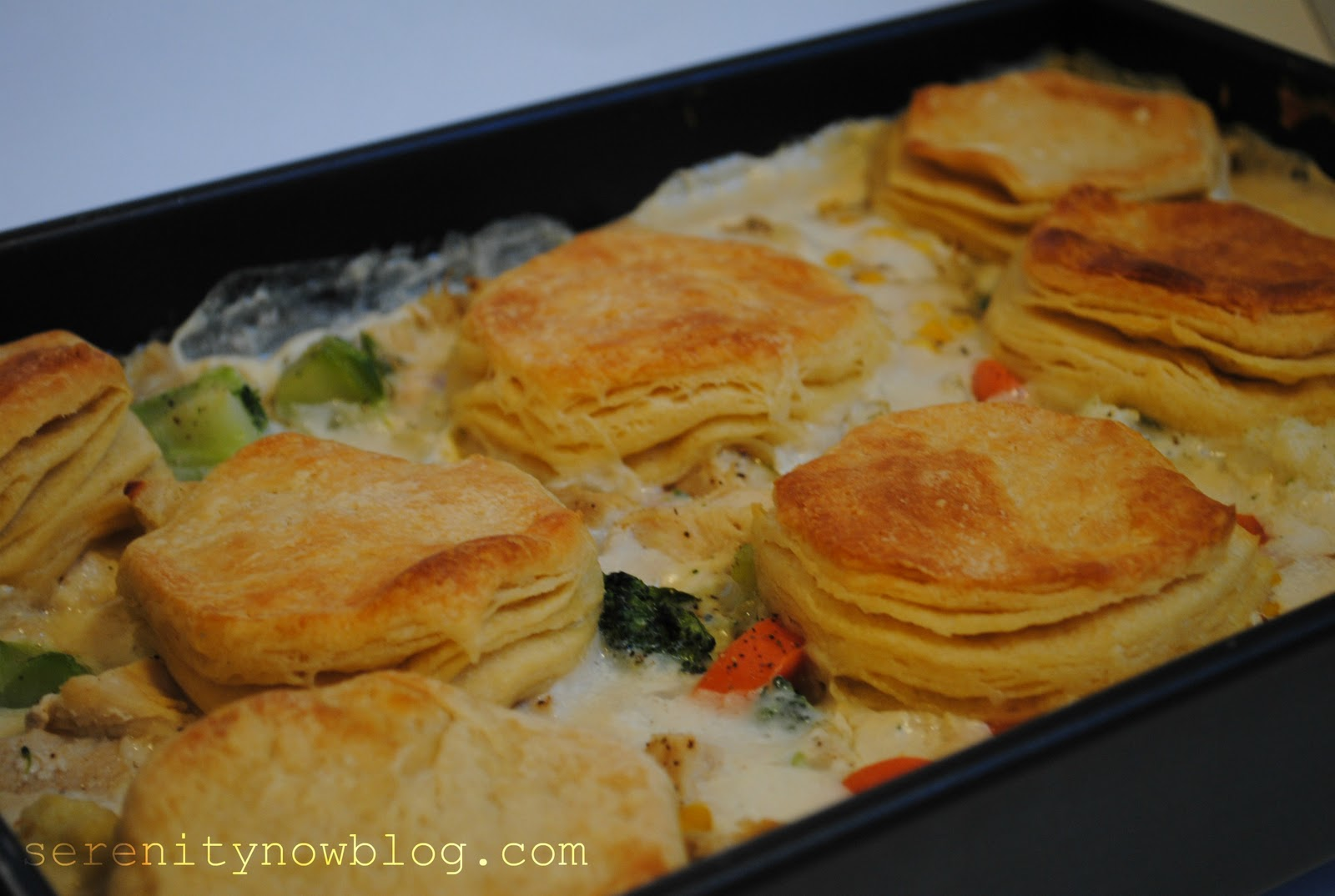 Serenity Now: Chicken and Biscuits Casserole (Fall Comfort Food)