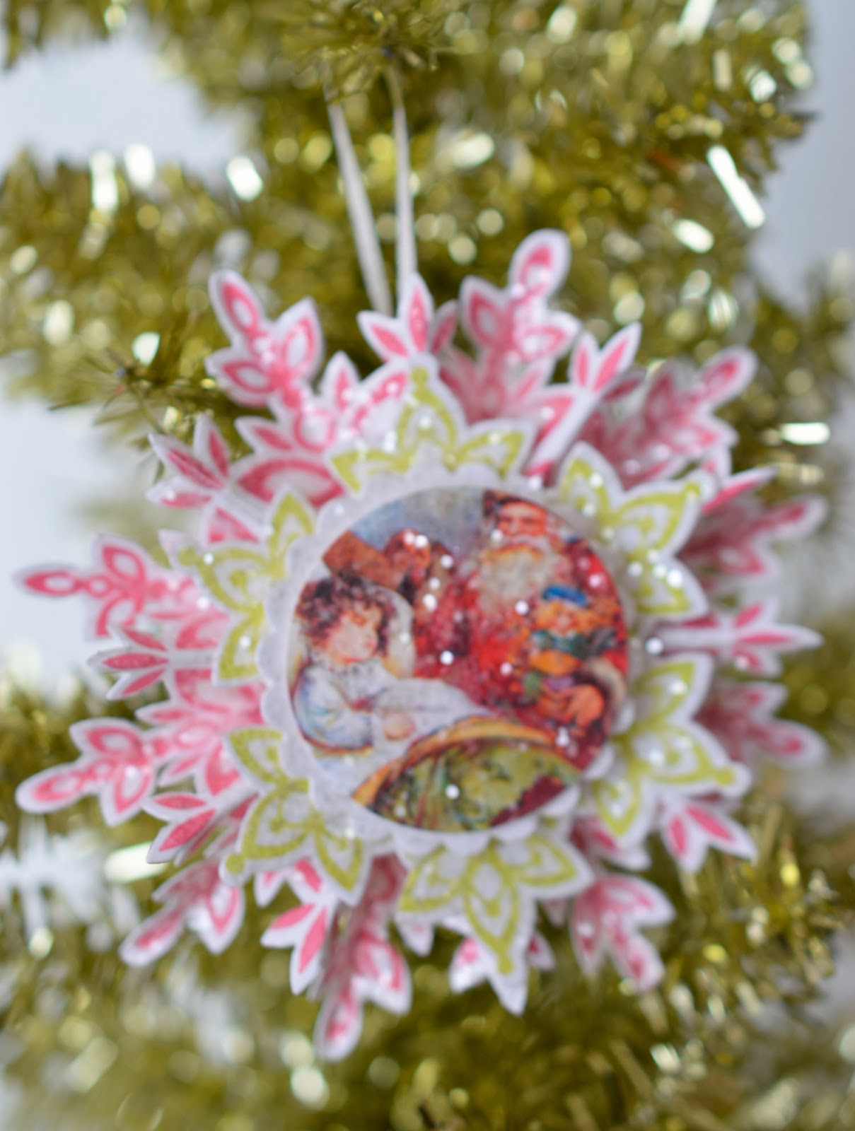 Make snowflake ornaments - To Make These Pretty Glittery Snowflake Ornaments I Ve Used Stampin Up Festive Flurry Snowflake Stamps And Framelits You Can Get A Bundle Of The Festive