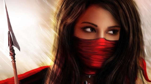 Hermosa Chica Ninja