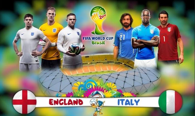 Prediksi Bola Inggris vs Italia 15 Juni Piala Dunia 2014