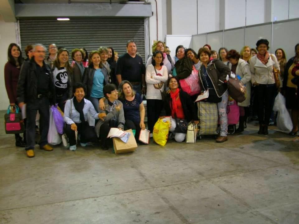 turma da excursão da Mega Artesanal 2014