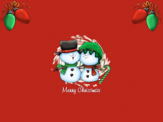 Free Download Merry Christmas Snowman Wallpaper