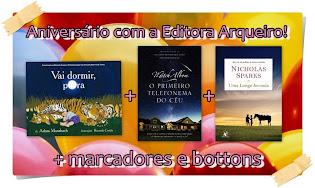 PROMOÇÃO: Aniversário com a Editora Arqueiro!!