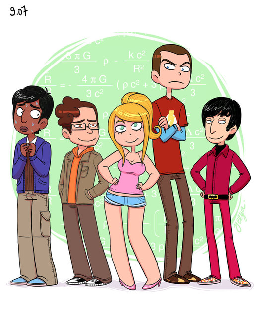 The Big Bang Theory characters por yllya
