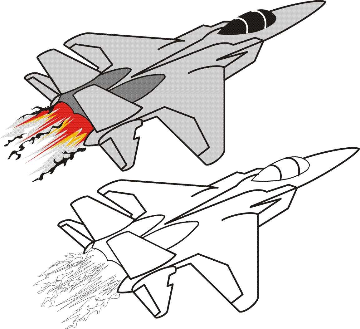 Avión a reacción para dibujar y pintar - Foto Montajes de ...