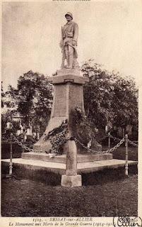 CPA monuments aux Morts de l'Allier, Bessay sur Allier