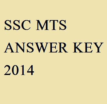 ssc mts answer key 2014