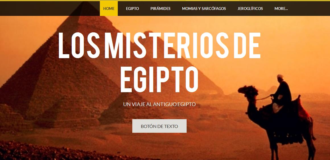 Nuestra página web sobre Egipto