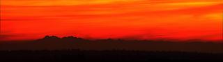 Panorama i miraż Tatr z Przyłęka (zima 2012), fot. Damian Wasyłeczko, Płaskowyż Kolbuszowski, Puszcza Sandomierska