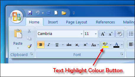 change highlight text color in pdf