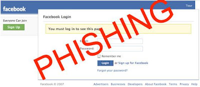 Facebook hacked by phishing