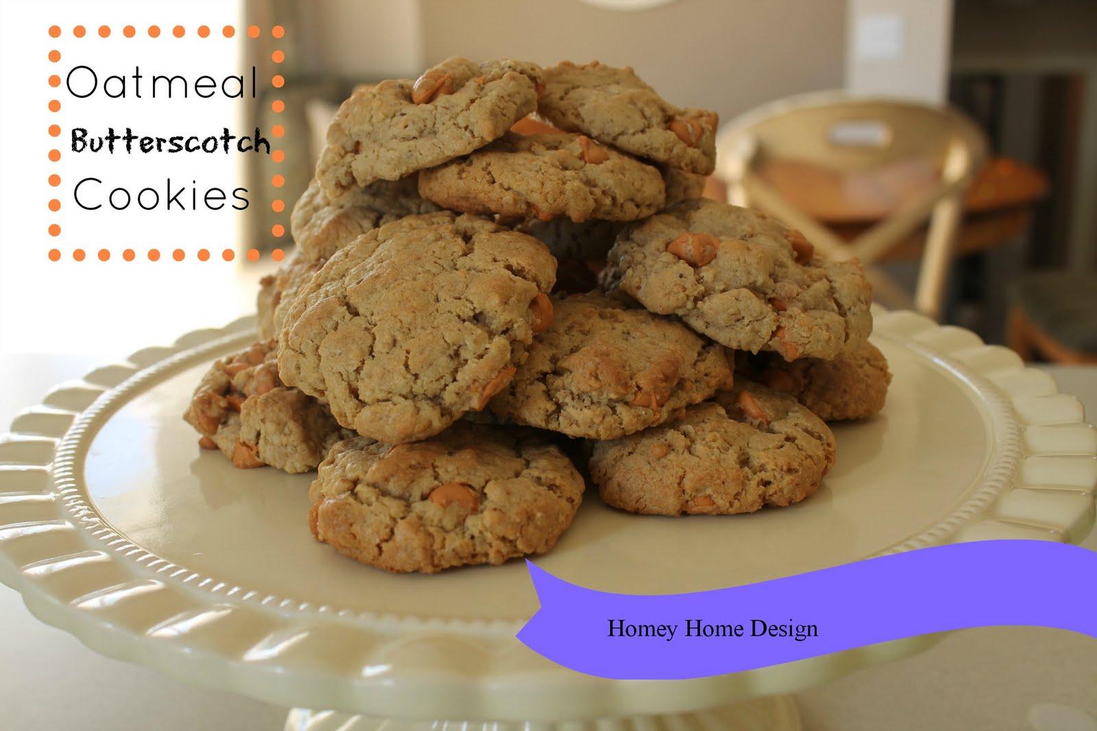 homey home design: Oatmeal Butterscotch Cookies