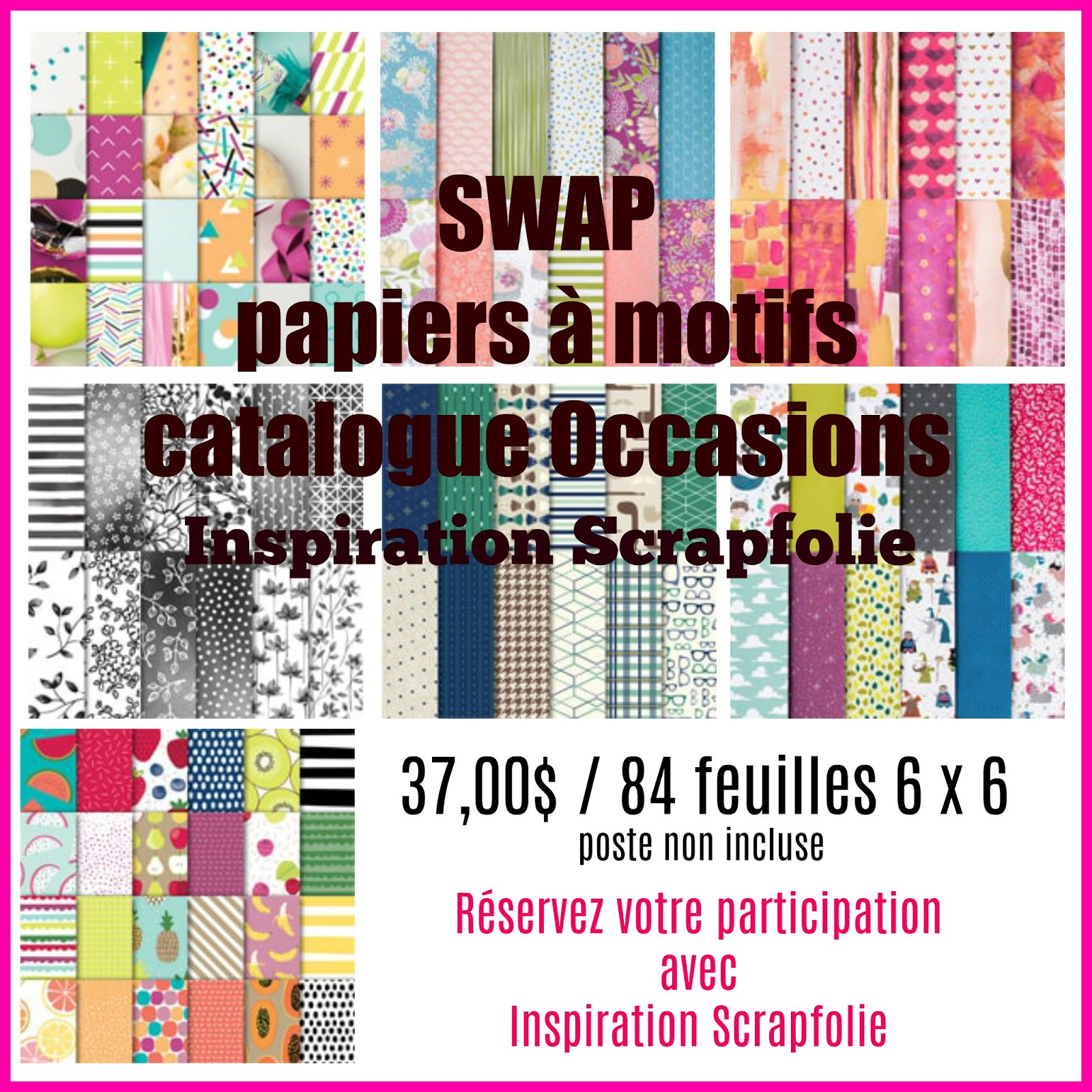 Achat groupé de papiers à motifs Catalogue Occasions