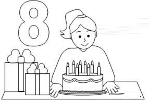 free coloring pages girl birthday coloring pages for kids