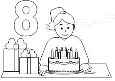 birthday girl coloring pages - Birthday Coloring Pages Girls