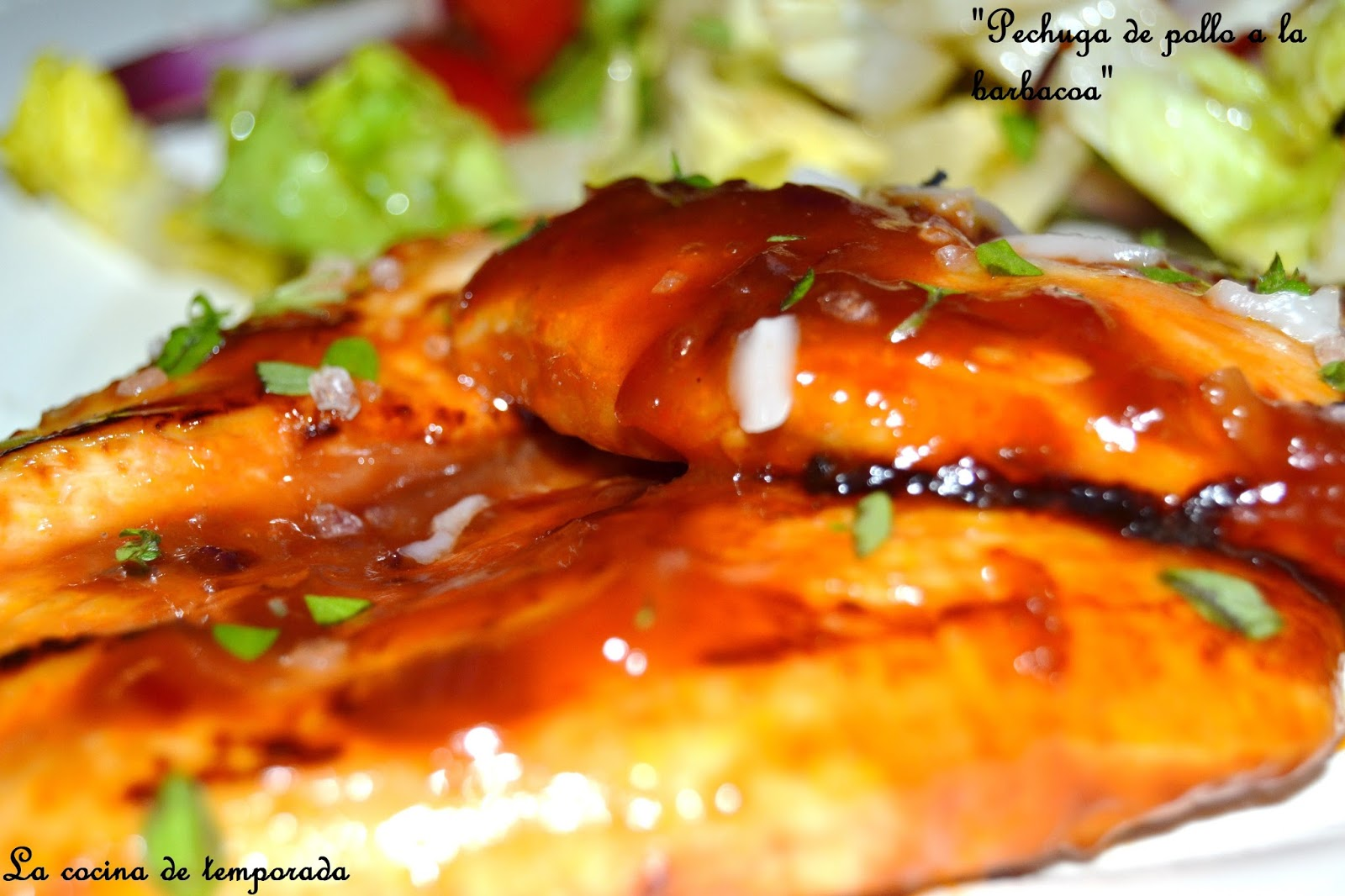 Receta Pechuga de pollo a la barbacoa - afuegolentocom