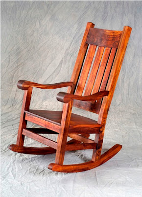 Antique Natural Handicraft Collections: Antique Wooden Rocking Chair