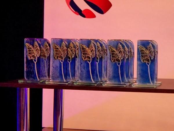 Statuetki dla laureatów nagrody Inter 2013 od Fundacji na rzecz Nauki Polskiej