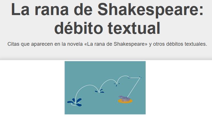 Vogli en La rana de Shakespeare.