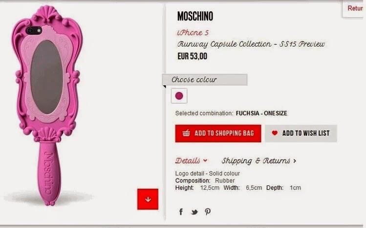 mode beauty fashion stylische moschino barbie pink spiegel design handyh lle individuell. Black Bedroom Furniture Sets. Home Design Ideas
