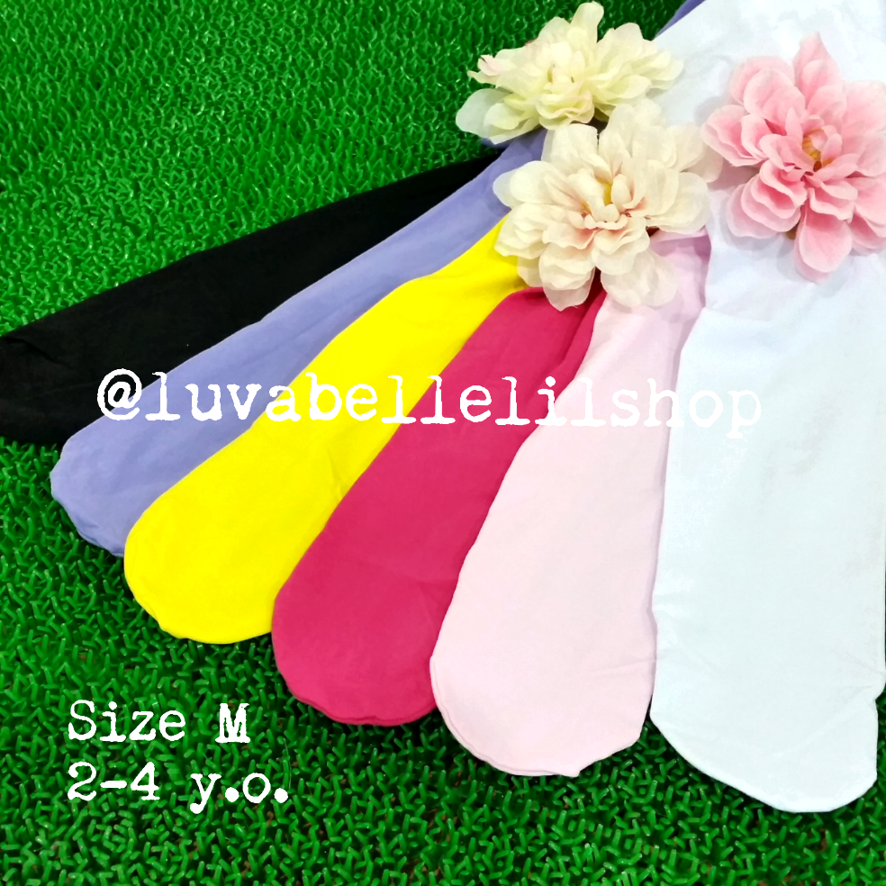 Plain tights for girls aged 2-4 yrs old