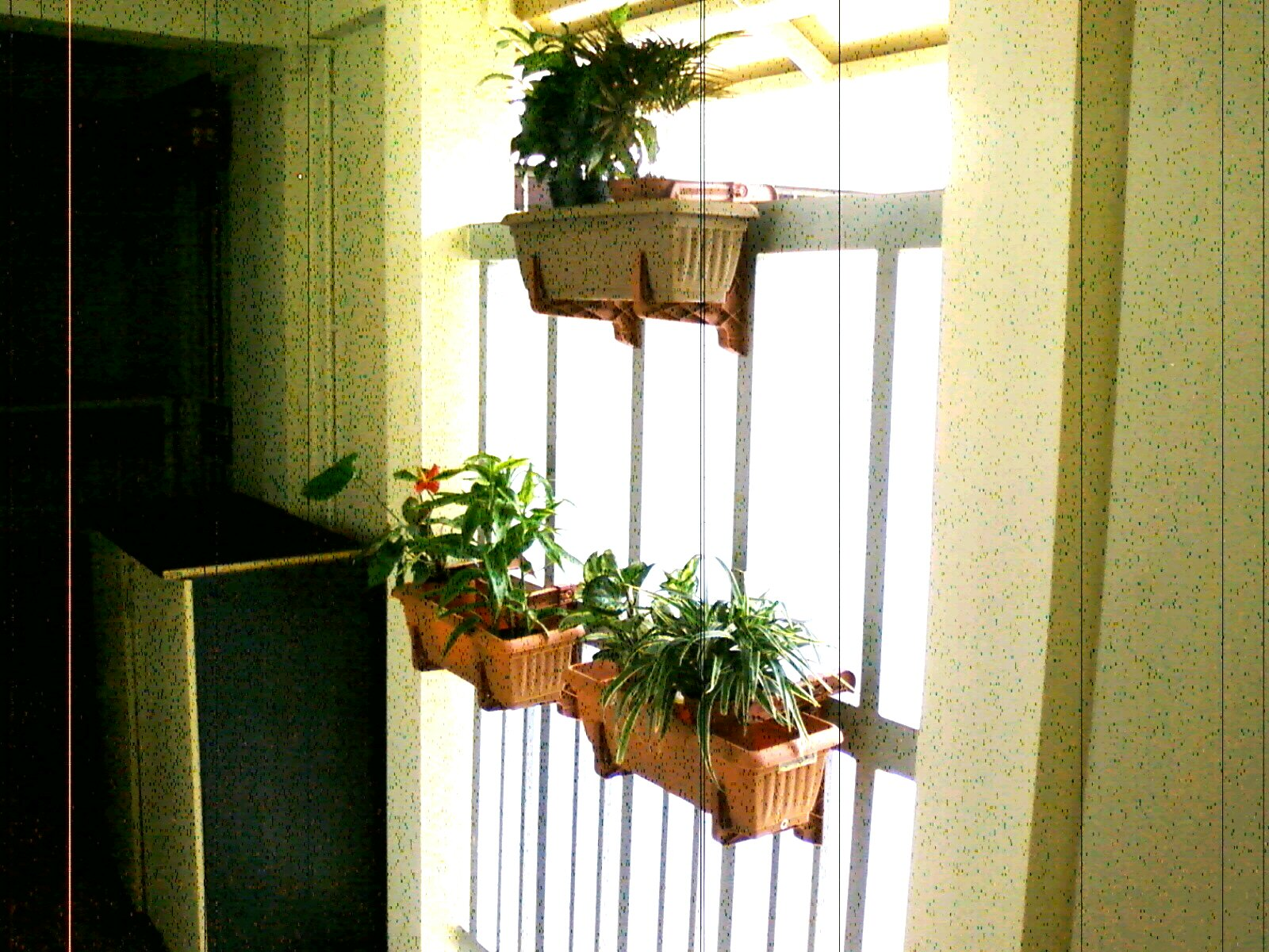 Pretty gardens deck rail planter makes great small space - Planters to hang on railing ...