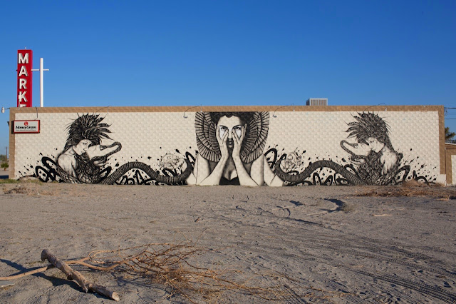 """Shesha Sand Storm"" New Street Art Piece By Fin DAC and Angelina Christina in California. 1"