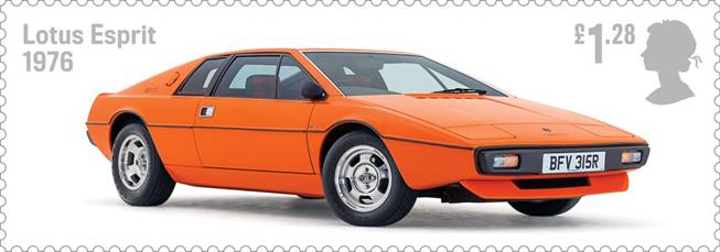 Royal Mail Auto Legends stamp with Lotus Esprit