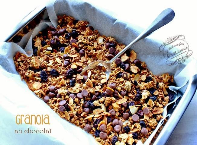céréales maison granola au chocolat