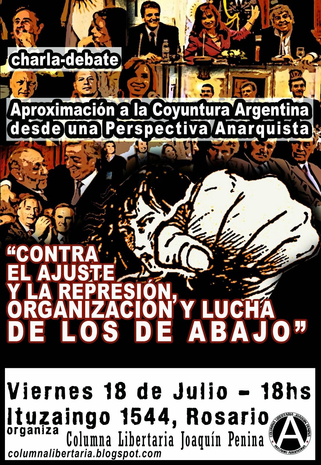 """Aproximación a la Coyuntura Argentina """"Contra el Ajuste y la Represión..."""""""
