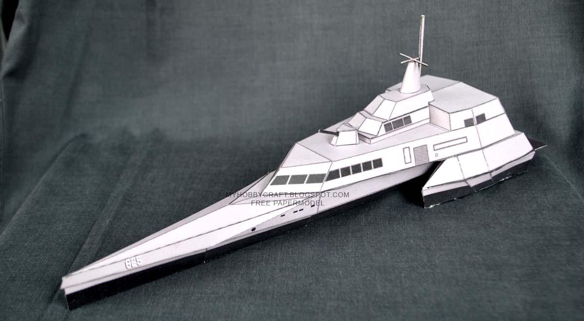 KRI Klewang Papercraft Stealth Warship