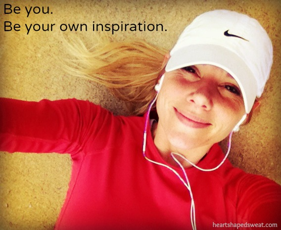 be your own inpsiration, heart shaped sweat