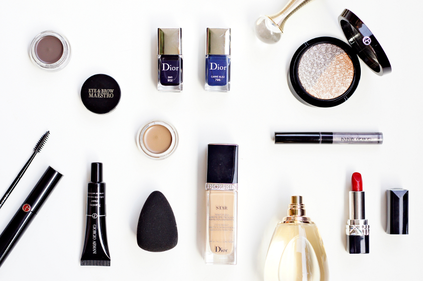fashion week make up : armani maestro , diorskin star , j'adore , etc.