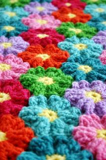 Waikiki Wildflower Blanket Crochet Pattern by Susan Carlson of Felted Button