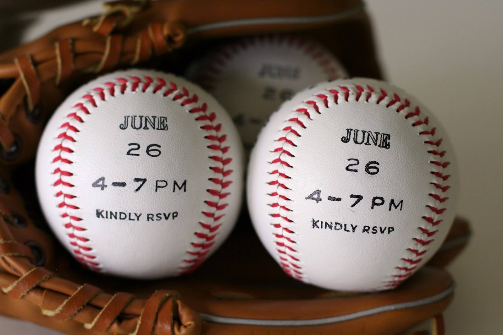 notable nest baseball party invitations, Party invitations