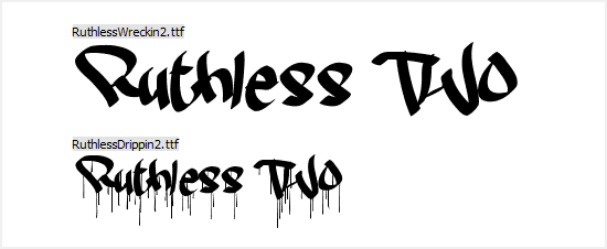 Free Graffiti Fonts - Ruthless Two