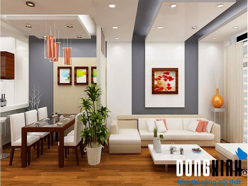 Dongxinh chuyên thi công và thiết kế trần thạch cao hiện đại
