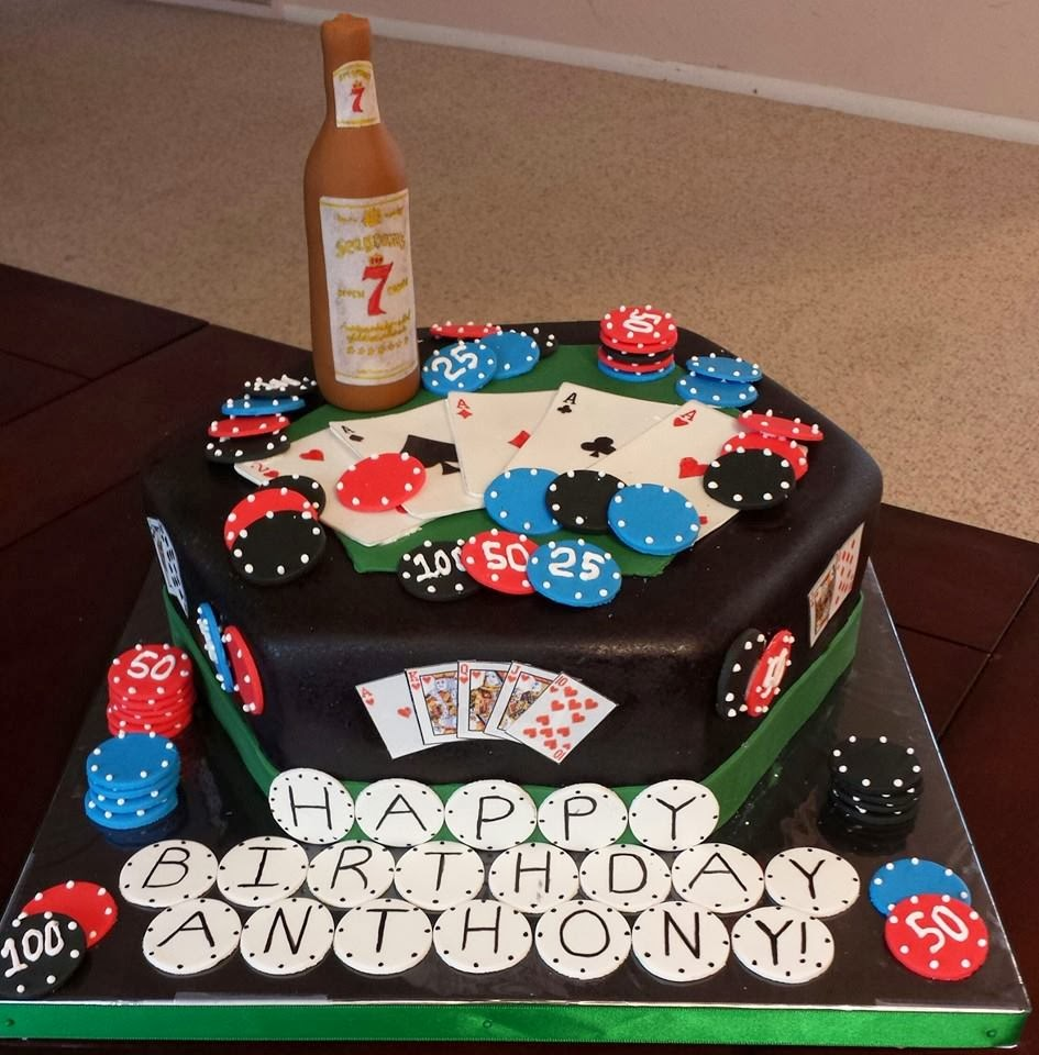 Js Cakes Poker And Seagrams 7 Birthday Cake
