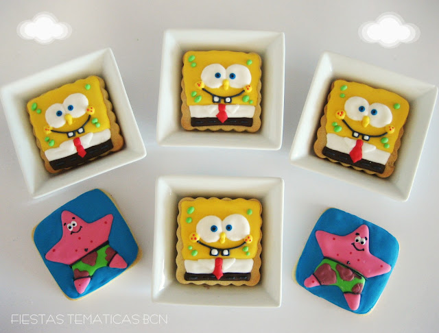 Galletas decoradas bob esponja