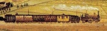 Ansicht der Stadt Schwelm mit der Bergisch-Märkischen Eisenbahn. 1861